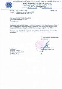 perpanjangan jadwal pengisian LIRS smester genap 2015/2016