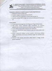 program transfer kredit mahasiswa tahun 2016